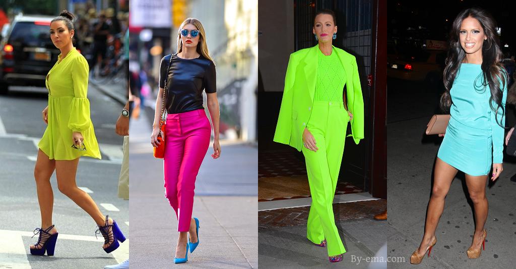 celebrities neon colors