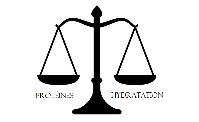 équilibre protéine hydratation cheveux