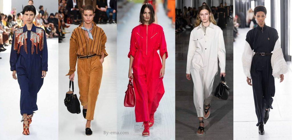 Tendances mode Printemps été 2019 combinaison pantalon