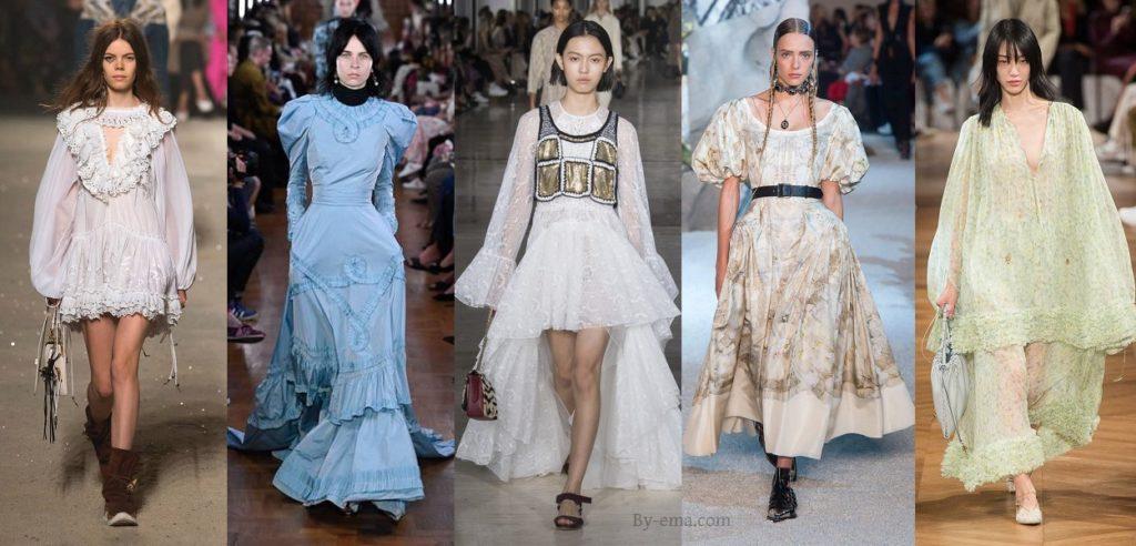 Tendances mode Printemps été 2019 robe prairie