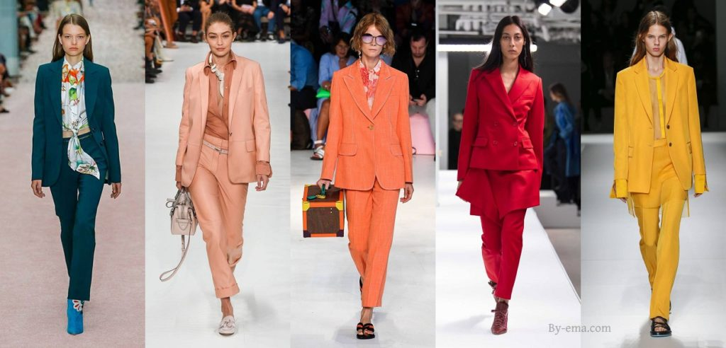 SS19 Colourful trouser suits