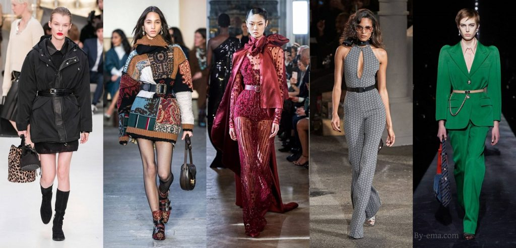 autumn winter 2019 fashion trends waist belt