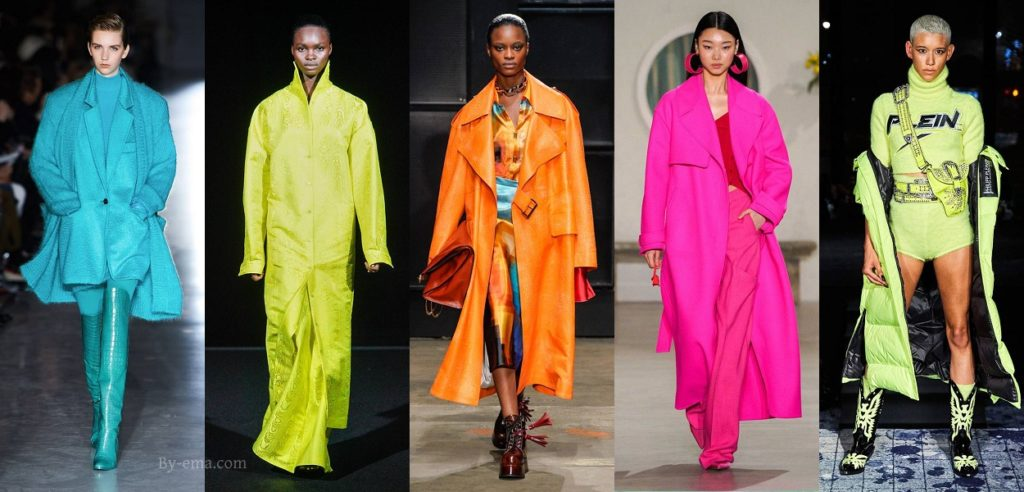 neon colours autumn winter 2019 fashion trends
