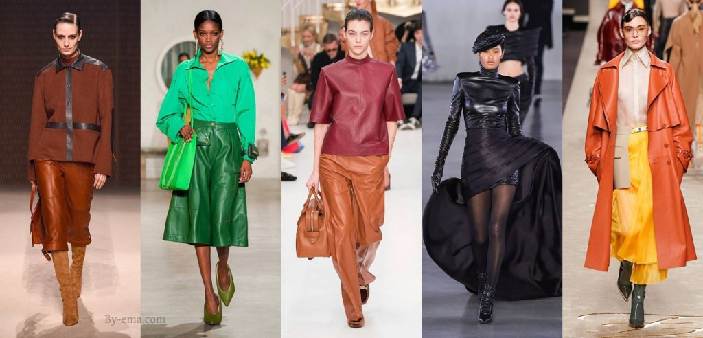 autumn winter fashion trends leather
