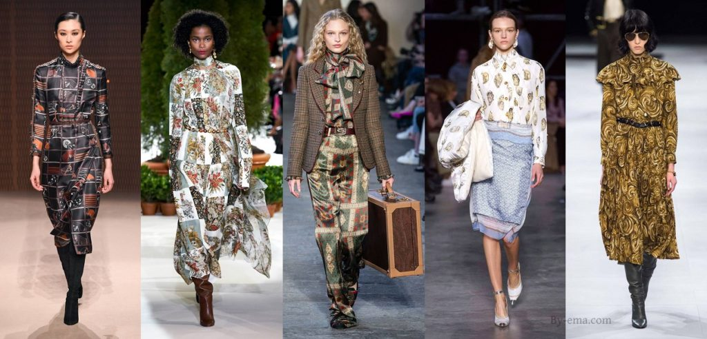 Autumn Winter 2019 Scarf print trend