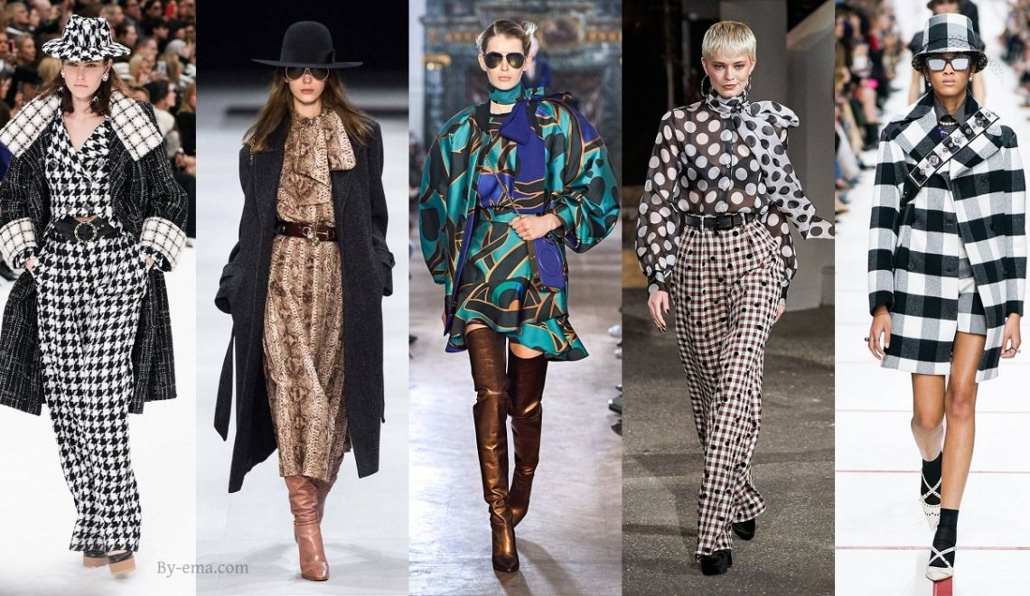 Autumn Winter trendy prints 2019