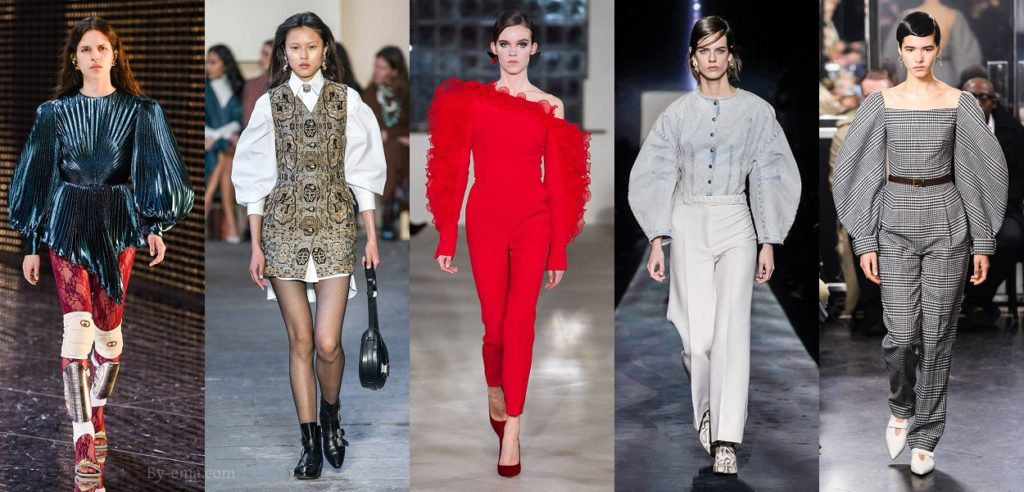 autumn winter 2019 fashion trends XXL sleeves