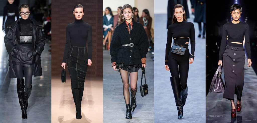 black autumn winter 2019 fashion trends