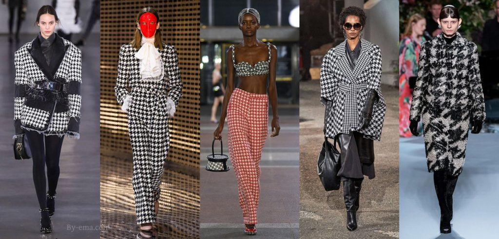 Autumn Winter 2019 Houndstooth trend