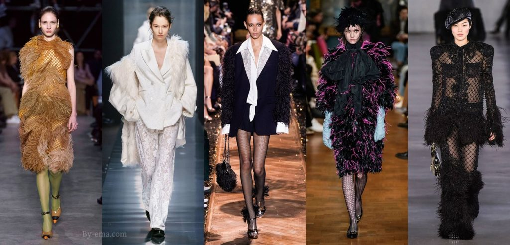 autumn winter 2019 fashion trends feathers