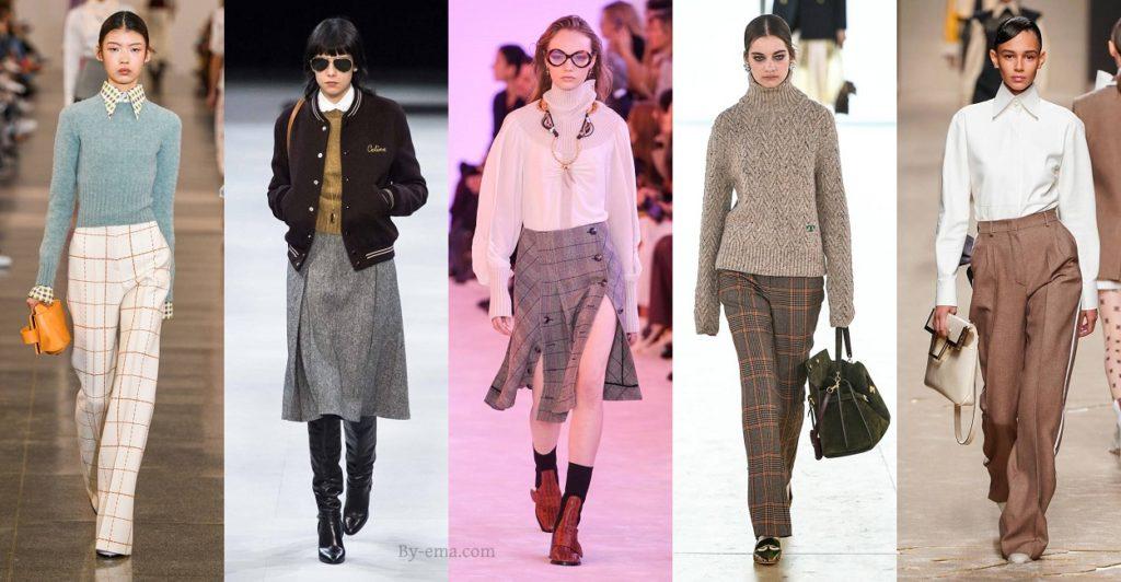 Autumn Winter 2019 fashion trends preppy