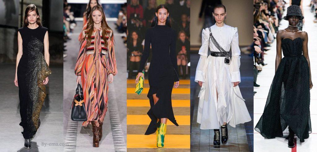 robe longue tendances mode automne hiver 2019