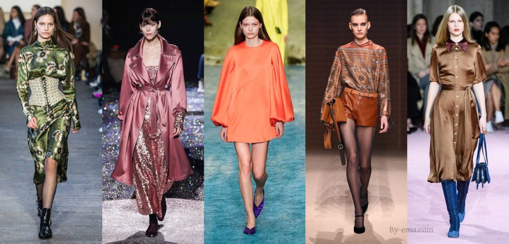 autumn winter fashion trends satin