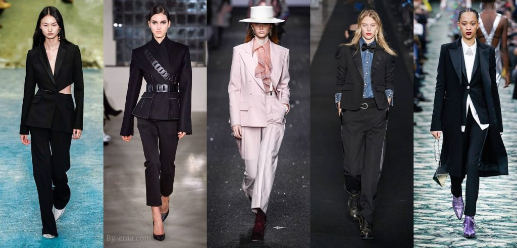 autumn winter 2019 fashion trends woman's suit