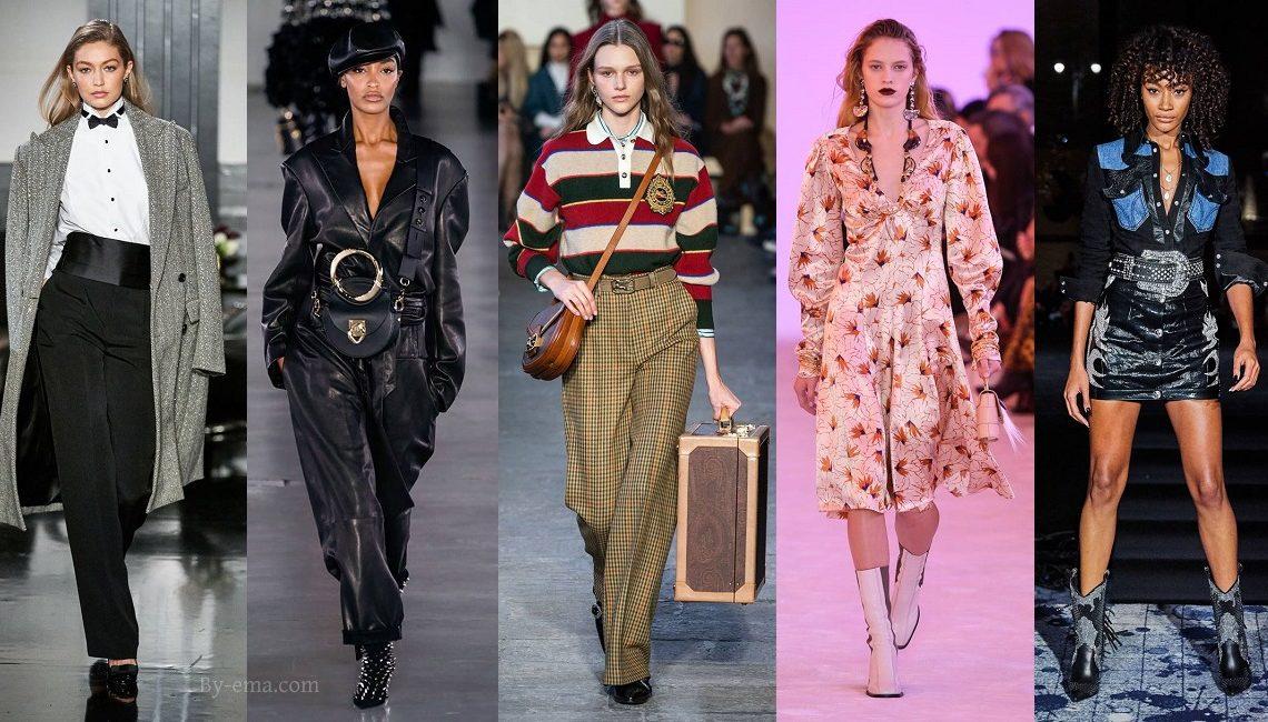 Styles tendances mode automne hiver 2019
