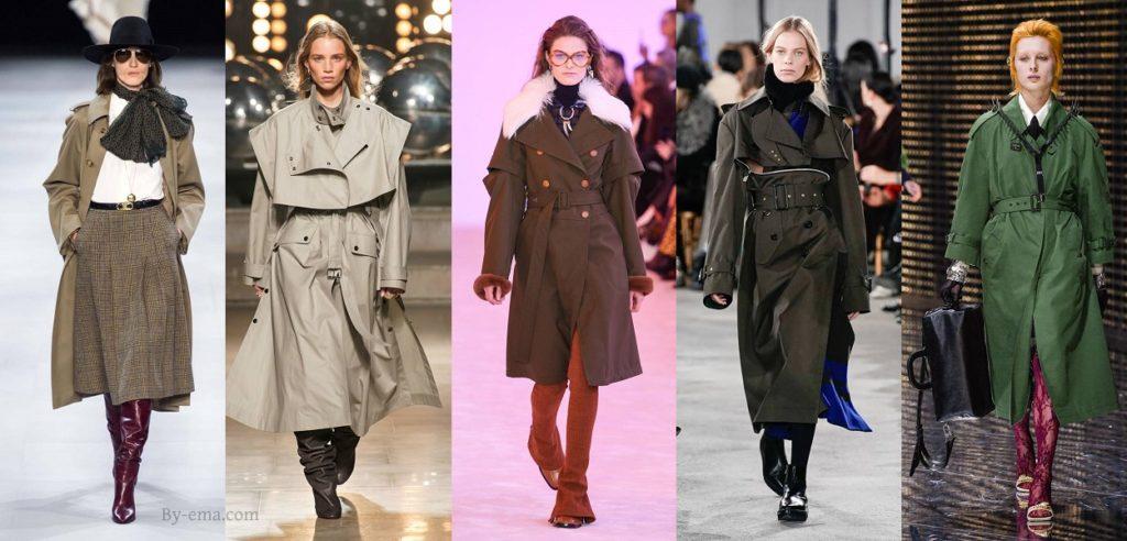 trench coat tendances mode automne hiver 2019