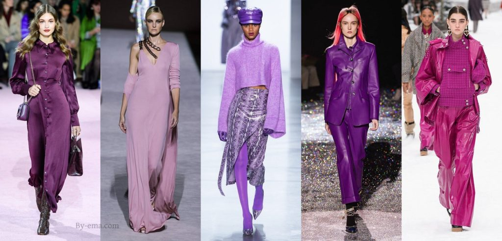 purple autumn winter 2019 fashion trends
