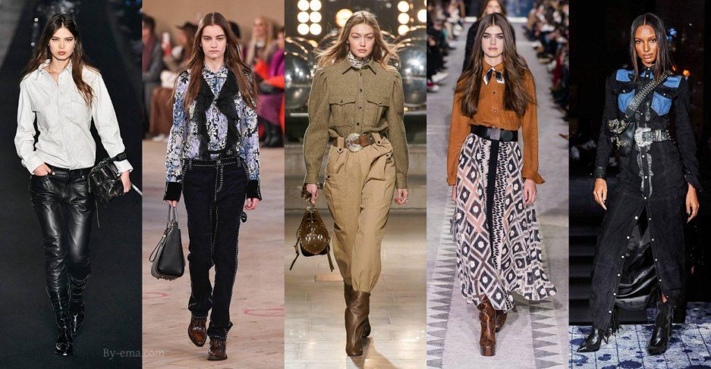 Autumn Winter 2019 fashion trends western